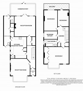 Black and White Floorplan