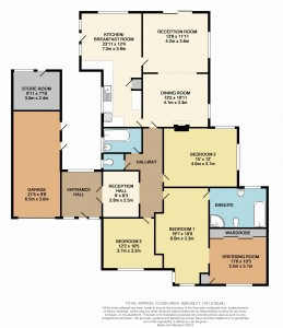 Coloured Floorplan