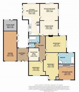 Coloured Floorplan